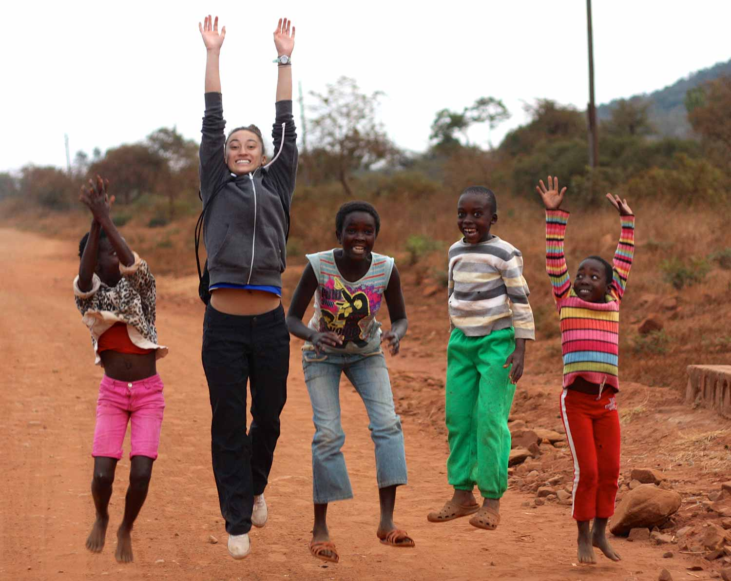 Global Health Minor, Michelle Bulterys completing her Global Health Field Experience in a small African Village studying traditional healing practices.